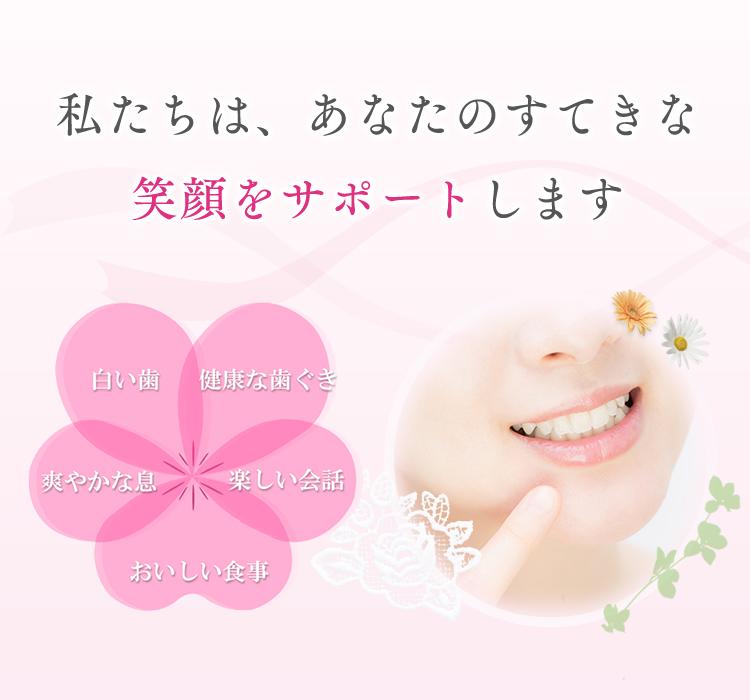 私たちは、あなたのすてきな笑顔をサポートします